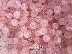11lb wholesale Natural Mozambique ICY Rose Quartz Crystal Sphere Ball Healing