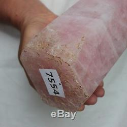 13.58LB 16.4 Natural Pink Rose Quartz Crystal Point Tower Polished Healing