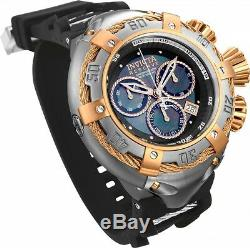 21349 Invicta 52mm Reserve Thunderbolt MOP Chrono Rose-gold Accents strap Watch