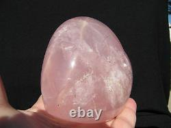 3.8 Star Rose Quartz Puffy Heart Large Crystal Polished Gemstone Paperweight