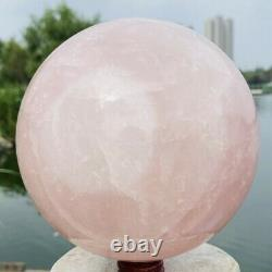 3910g Natural Pink Rose Quartz sphere Crystal Ball Healing Mineral Stone
