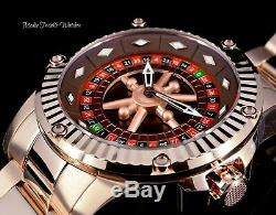 52MM Invicta Specialty CASINO AUTOMATIC Roulette All Rose Gold Bracelet Watch