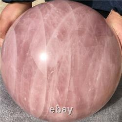 69.52LB Natural Six-pointed star Pink Rose Quartz Sphere Crystal Ball Healing