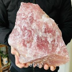 8395g Natural Raw Rough Pink Rose Quartz Crystal Mineral Specimens Healing Stone