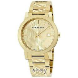 Burberry The City Gold Tone Stainless Steel 38mm Unisex Watch BU9038