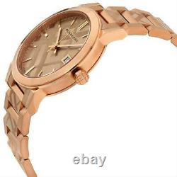 Burberry The City Rose Gold-Tone Dial Stainless Steel Quartz Ladies Watch BU9039