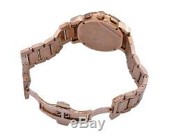 Burberry Watch Men BU9353 Rose Gold Check Stamp Chronograph Stainless Steel Band