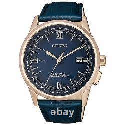 CITIZEN CB0152-24L Eco-Drive Blue Dial Pink Gold Stainless Steel Watch WARRANTY