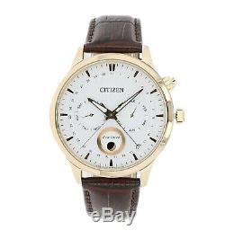 Citizen Eco-Drive Mens Global Collection Rose Gold Case 42mm Watch AP1052-00A
