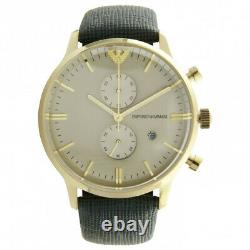 Emporio Armani Men's AR1722 Classic Green Leather Strap Gold Dial Watch