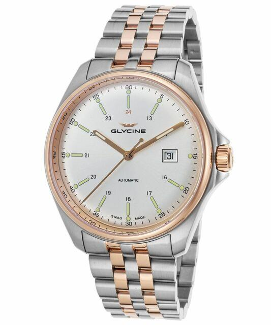 Glycine Men's 3890.313. Mb Combat 6 Automatic 43mm Two Tone Rose Pvd Watch