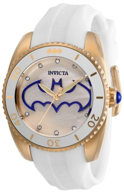 Invicta 29301 Dc Comics Lady 38mm Stainless Steel Rose Gold White Dial Watch