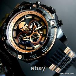 Invicta Marvel Punisher Speedway Viper 52mm Chronograph Rose Gold Tone Watch New