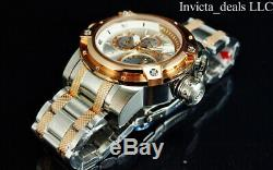 Invicta Men 52mm COALITION FORCES RETROGRADE DAY Silver Dial Rose Two Tone Watch