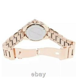 MICHAEL KORS Camille Rose Dial Rose Gold-tone Crystal Ladies Watch MK5862 NWT