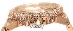 Michael Kors MK5862 Women's CAMILLE Rose Gold Pave Crystal Glitz Round RRP £599