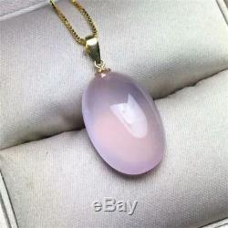 Natural Star Rose Quartz Mozambique Crystal 18K Gold Buckle Pendant 1813mm AAAA