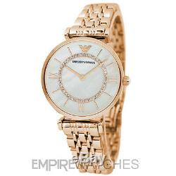 New Emporio Armani Ladies Gianni Rose Gold T-bar Watch Ar1909 Rrp £379