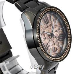 New MICHEAL KORS Ladies Watch Everest Rose Gold Dial Black-tone Crystals MK5879