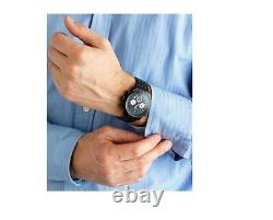 New Rotary Mens Watch Black Chronograph Waterproof Stainless Steel Rrp£180