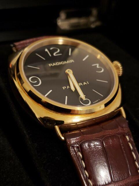 Panerai 18k Rose Gold 45mm Pam 231 Radiomir Watch With Box & Papers