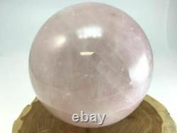 Pink Rose Quartz Crystal Sphere 5.2 inch with free clear quartz stand