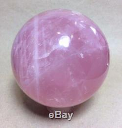 Rose Quartz Crystal Ball Sphere from Madagascar Gorgeous Quality and Color