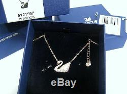 Swarovski Swan Necklace, Rose gold-plated Clear Crystal Authentic MIB 5121597