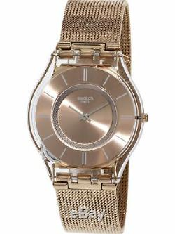 Swatch Women's Skin SFP115M Rose-Gold Stainless-Steel Plated Swiss Quartz Fas