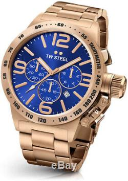 Tw Steel Cb184 Mens Rose Gold 50mm Canteen Watch 2 Years Warranty